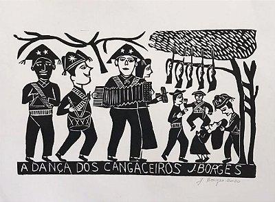 Xilogravura J. Borges A Dança dos Cangaceiros G - PE