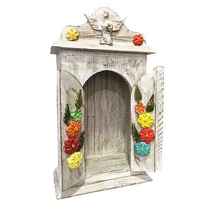 Oratório Divino com flores - MG