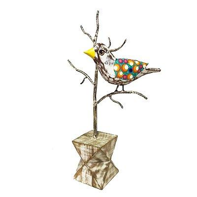 Árvore com 1 Pássaro colorido Edson - MG