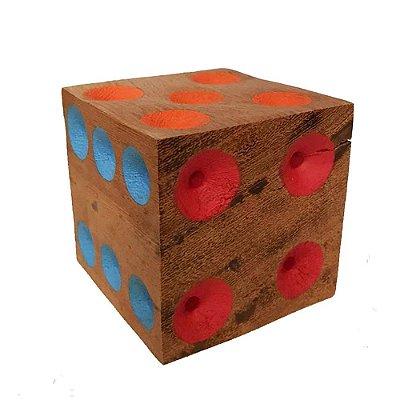 Dado colorido em madeira 9 X 9 - MG