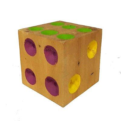 Dado colorido em madeira 10 X 10 - MG