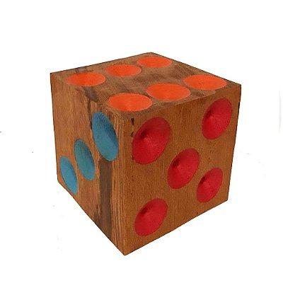 Dado colorido em madeira 13 X 13 - MG