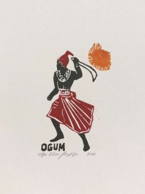 Xilogravura João Pedro Ogum P - CE