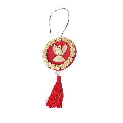 Divino Mandala Palha de Milho Vermelho - Fatinha GO