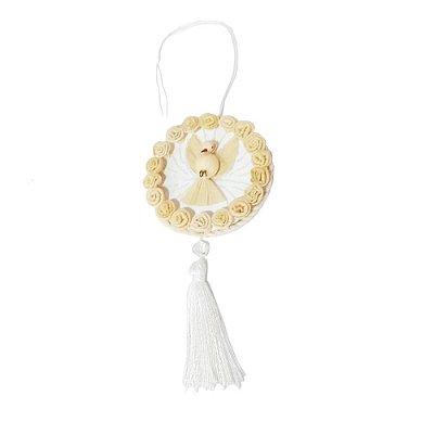 Divino Mandala Palha de Milho Branco - Fatinha GO