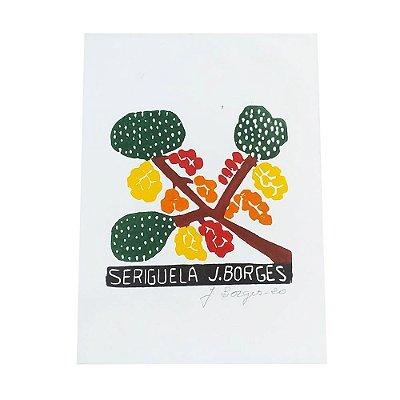 Xilogravura Seriguela - J. Borges PE