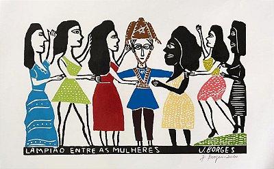 Xilogravura J. Borges Lampião entre as Mulheres  G - PE