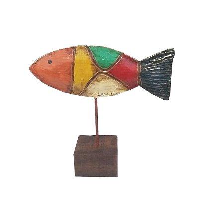 Escultura Peixe Patrícia Barros - PE