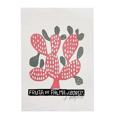 "Xilogravura ""Fruta de Palma"" P -  J. Borges - PE"