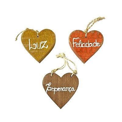 Trio de Coração com Dizeres - MG