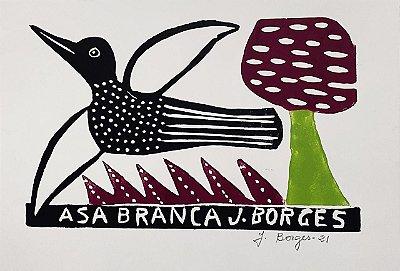 "Xilogravura ""Asa Branca"" P - J. Borges - PE"