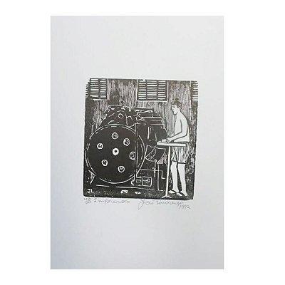 """Xilogravura """"Impressão"""" - José Lourenço - Juazeiro do Norte CE"""