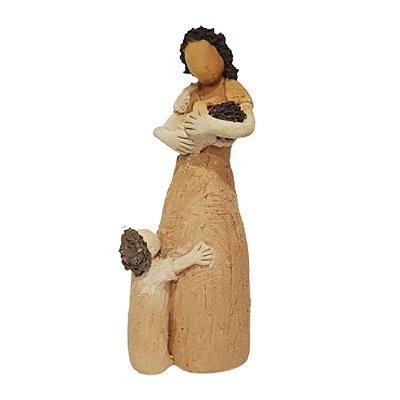 Escultura Mãe com 2 Crianças - João Paulo Motta - MG