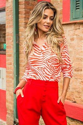 Camisa Coral Print