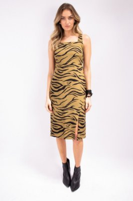 Vestido Midi Lovely Animal Print