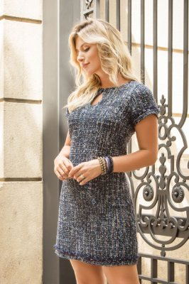 Vestido Tweed Color