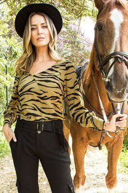 Blusa Lovely Animal Print