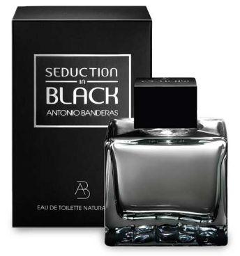 PERFUME SEDUCTION IN BLACK EAU DE TOILETTE MASCULINO 200ML