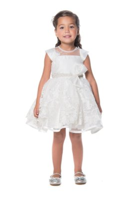 VESTIDO DE FESTA INFANTIL DAMA DE HONRA PETIT CHERIE OFF WHITE
