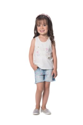 BLUSA INFANTIL PETIT CHERIE NADADOR BORDADA FUNDO DO MAR