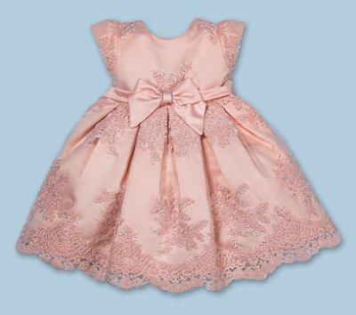 Vestido de festa bebê Petit Cherie em tule europa renda luxo princesa