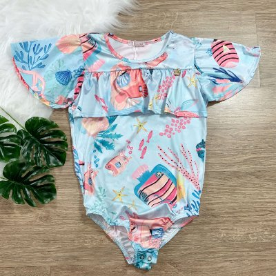 Body infantil Mon Sucre fundo mar