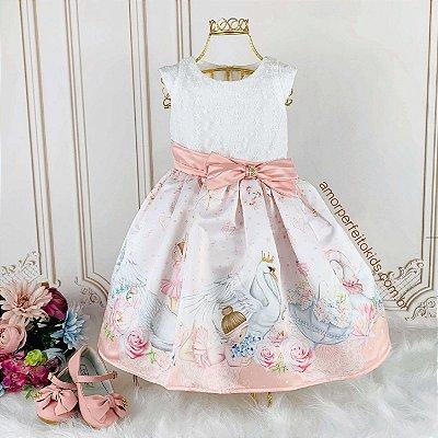 Vestido de festa infantil Petit Cherie bailarina e cisne