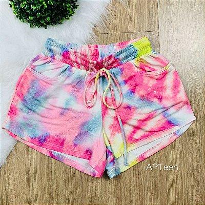 Shorts de moletom teen tie dye Catbalou Tam 14