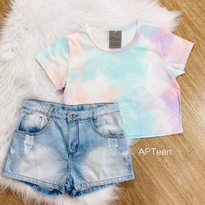 Cropped teen tie dye candy Catbalou Tam 18