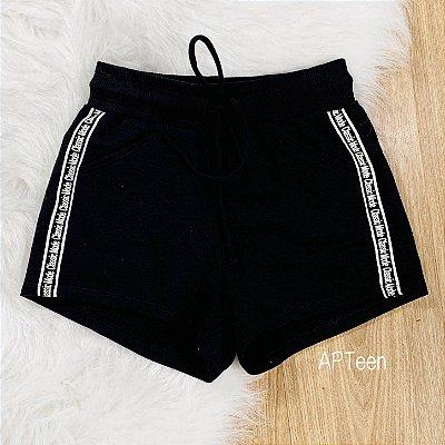 Shorts de moletom teen Catbalou classic mode preto Tamanho 18
