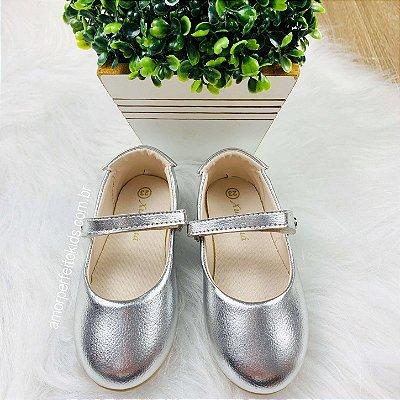 Sapato infantil boneca Xuá Xuá prata