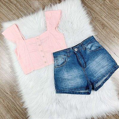 Shorts jeans teen Amofany básico tumblr Tam PP
