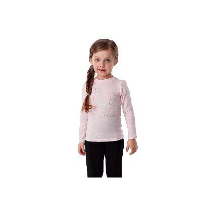 Blusa infantil Petit Cherie inverno manga longa rosa