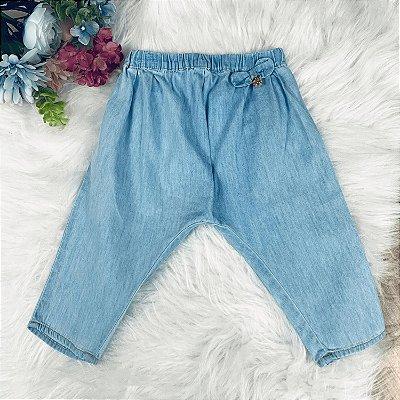 Calça bebê Petit Cherie feminina saruel jeans confort Tam G