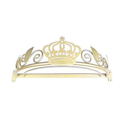 Dossel Coroa Arabesco Folhas Dourado BabyKinha