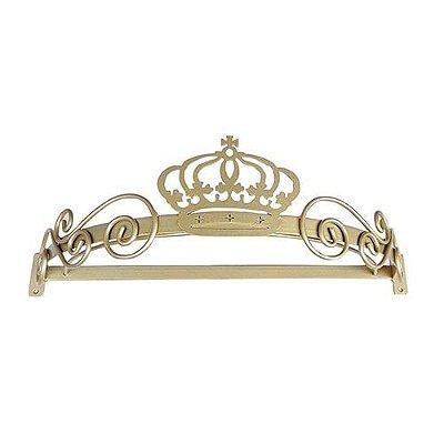 Dossel Arabesco Coroa Dourado BabyKinha