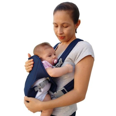 Bolsa Canguru Bebê Marinho