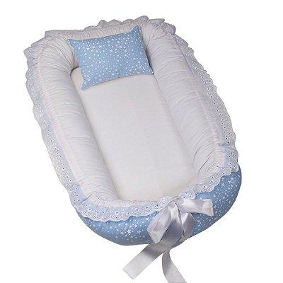 Ninho Para Bebê Azul Estrelinha BabyKinha
