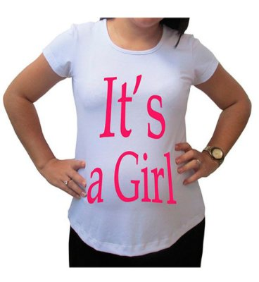 Camiseta Para Gestante It's a Girl BabyKinha