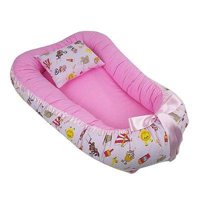 Ninho Para Bebê Com Zíper Rosa Circo BabyKinha
