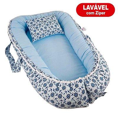 Ninho Para Bebê Com Zíper Marinheiro Azul BabyKinha