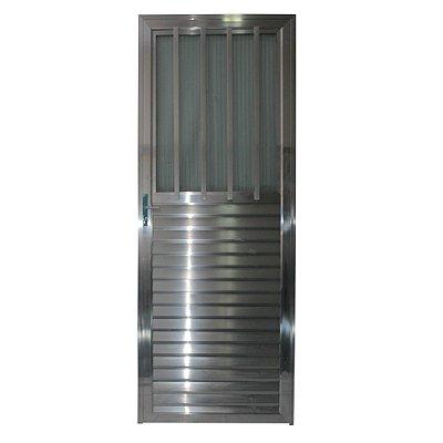 Porta Carioca Brilho 210x80 Direita, Vidro Incolor