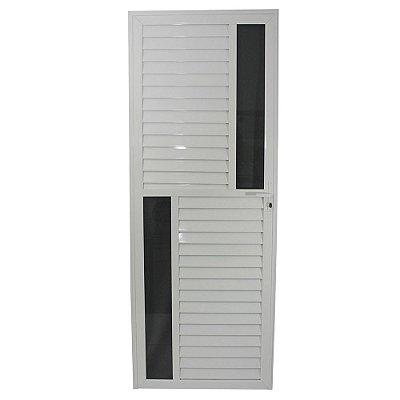 Porta Maxwell Branca 210x80 Abe Direita, Vidro Mini Boreal