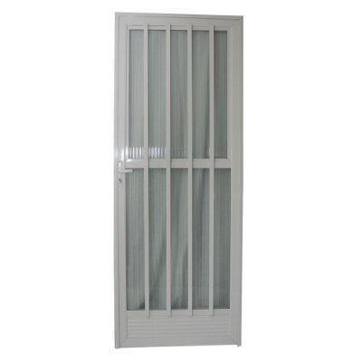 Porta Palito Branca 210x70 Abertura Esquerda, Vidro Fumê