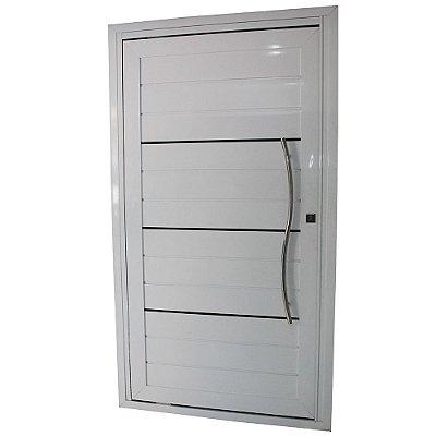 Porta Pivotante de Alumínio Branca 220x140 Aber. Esquerda