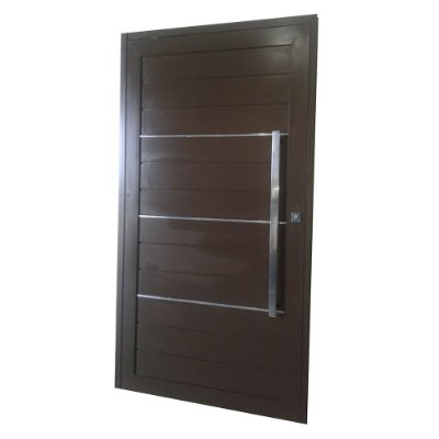 Porta Pivotante de Alumínio Marrom 220x120 Abertura Esquerda