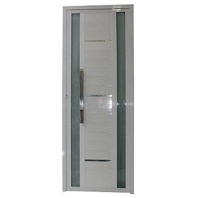 Porta Sublime Branca 210x90 Abertura Direita, Vidro Fumê