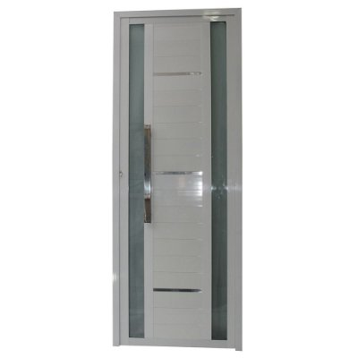 Porta Sublime Branca 210x80 Abertura Direita, Vidro Incolor