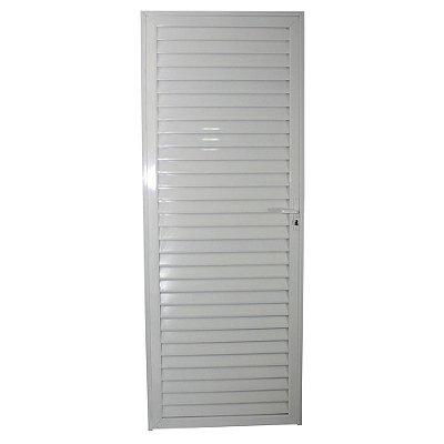 Porta Veneziana Branca 210x60 Abertura Esquerda