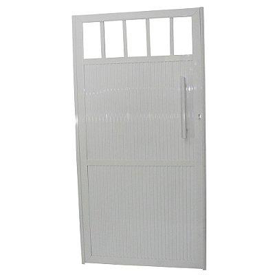 Portão Standard Branco 180x90 Abertura Esquerda Com Puxador